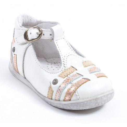 Chaussures à boucle Babybotte blanches