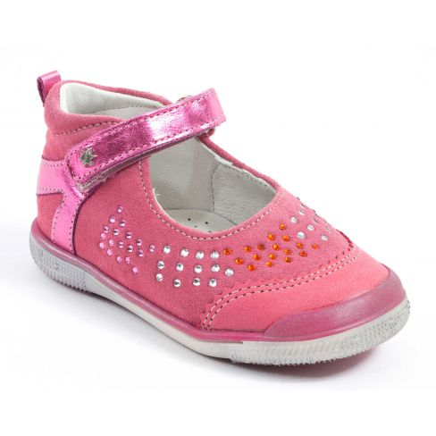 6405d8529683e Chaussures Babies fille rose fushia Babybotte STRASSY