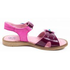 Sandales Babybotte rose brillant pour fillette KRISTEL