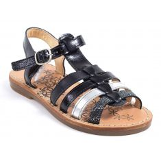 Sandales & Nu-pieds noir et argent YLONA3 Babybotte