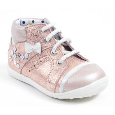 Catimini Bottines bébé fille PAPILLON rose poudré
