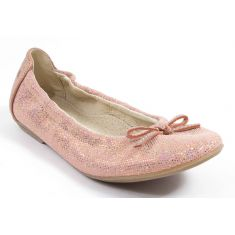 Achile Ballerines plates fille KIKI rose or paillette