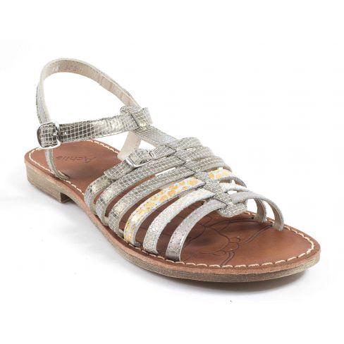 Achile Sandales fille pieds fins BANGKOK or