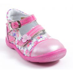 GBB Ballerines fille Liberty rose cuir PEGGY