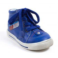 GBB Baskets cuir garçon à fermeture PARIS bleu