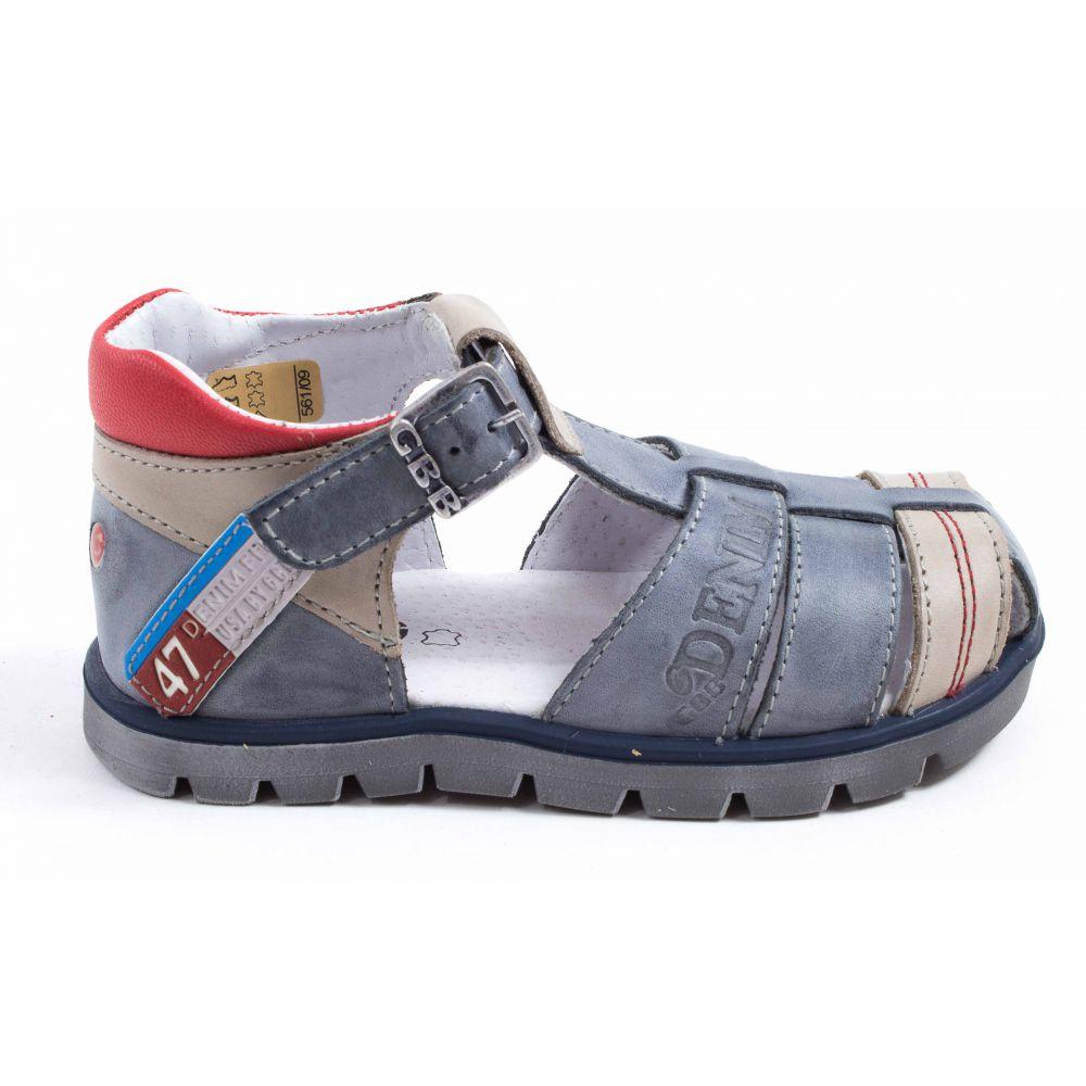 ... Sandales garçon GBB PELAGE gris - semelle cuir ...