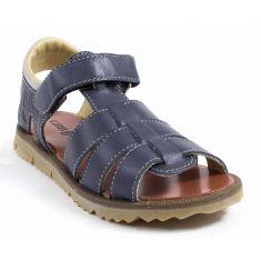 Sandales garçon cuir fermées GBB PATHE bleu marine
