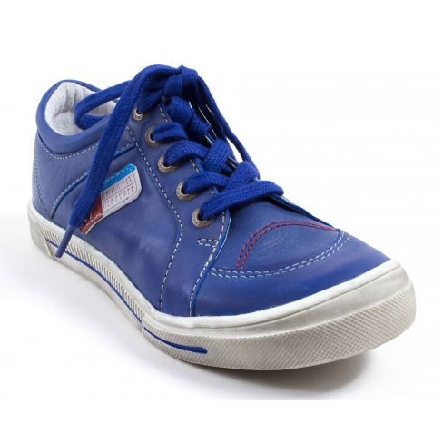 bon marché grandes variétés aspect esthétique GBB Baskets cuir enfant garçon PAVEL bleu