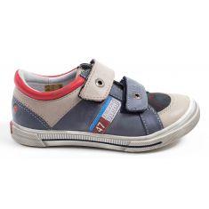 Sneakers enfant garçon cuir GBB PHIL bleu