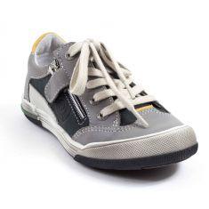 GBB Sneakers cuir enfant garçon PETRUS noir