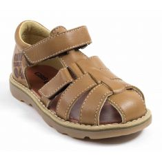 GBB Sandales cuir enfant garçon PATERNE marron