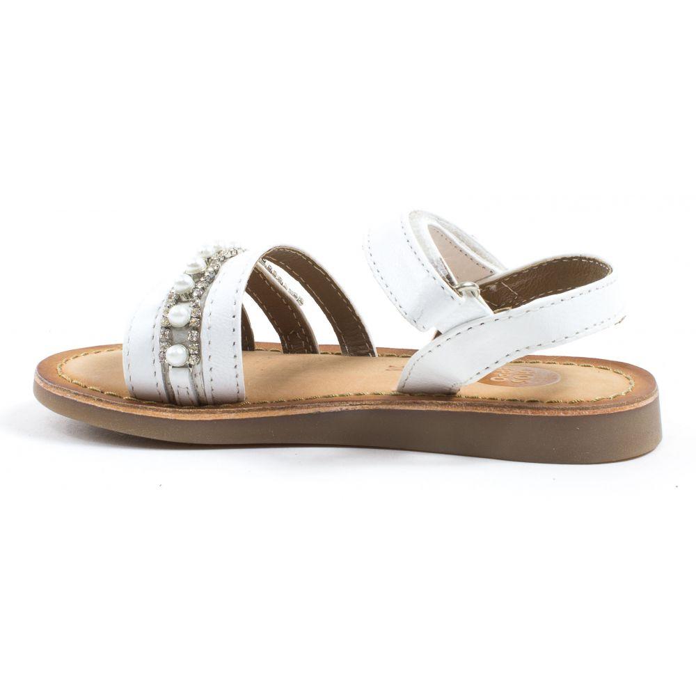 sandales blanches avec perles gioseppo sandales c r monie fille. Black Bedroom Furniture Sets. Home Design Ideas