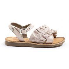 Sandales à volants rose poudré Rose Gioseppo