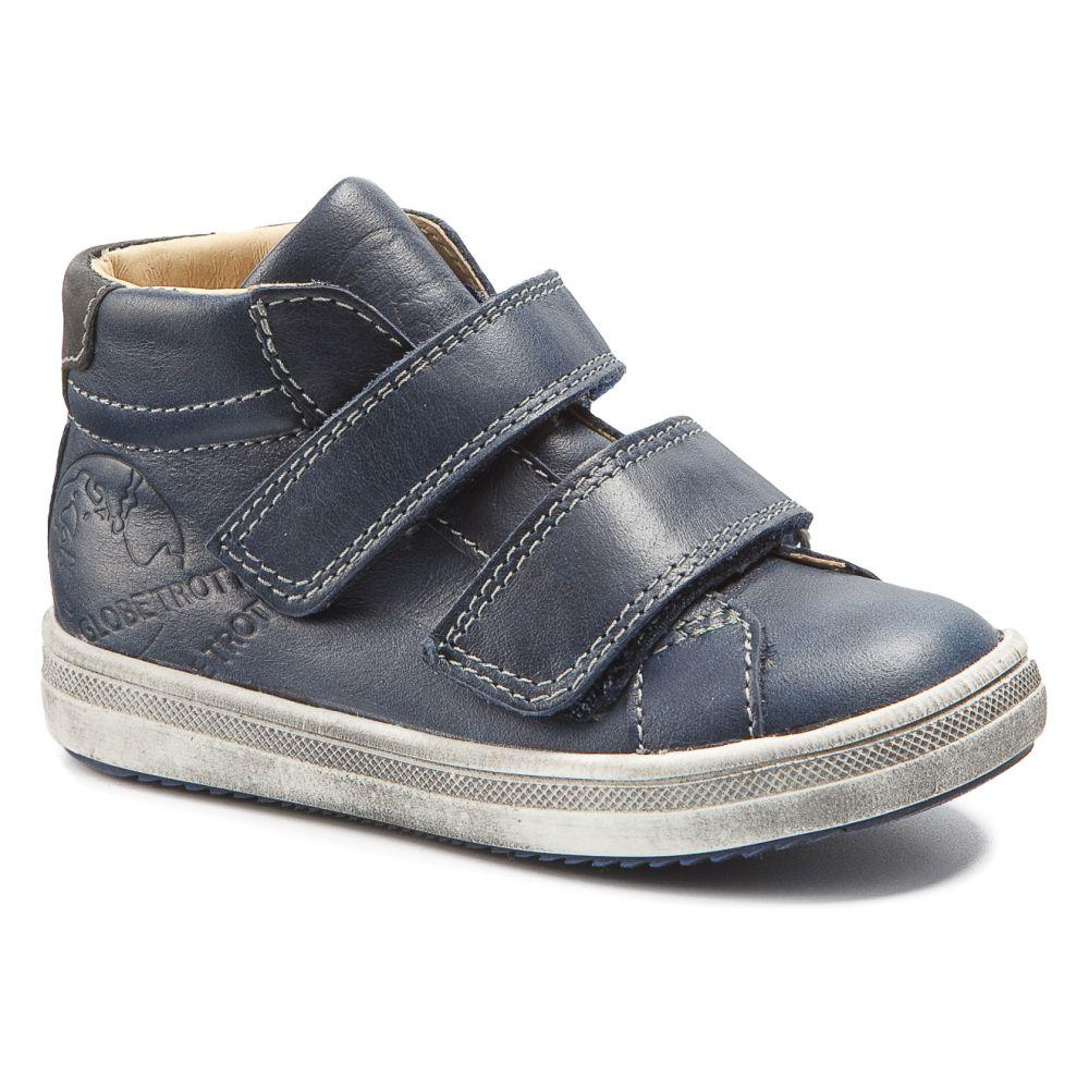 Chaussures enfant pieds fins - GBB Baskets montantes cuir bleu à