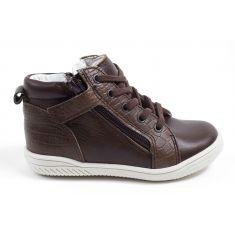Babybotte sneakers garçon en cuir ADAMS marron