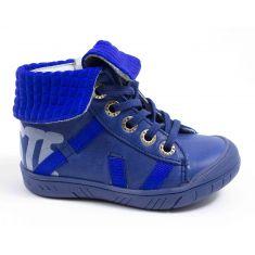 Babybotte Boots cuir à lacets garçon ARTIGRAFF bleu