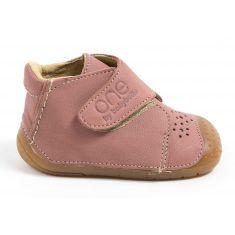 Chaussures bébé fille - Babybotte Bottines bébé fille à velcro 4 pattes ZEN rose
