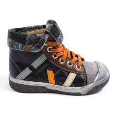 Chaussures garçon - Babybotte Boots noir en cuir à lacets garçon ARTISTE6