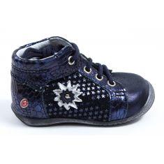 Boots GBB bébé fille à lacets bleu marine RESTITUDE