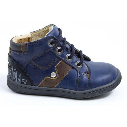 817ec047ad0d8 chaussure garçon - Boots cuir bébé garçon GBB à lacets bleu REGIS
