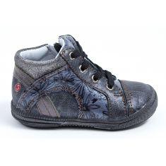 Boots fille GBB pas cher grise à fermeture ROSETTA
