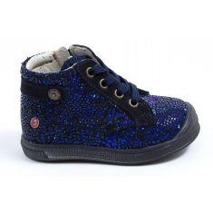 GBB Boots fille cuir bleu marine à fermeture REGINE