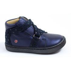 Chaussures enfant - GBB Boots fille à scratch croisé bleu marine RAYMONDE