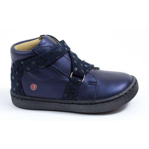 GBB Boots fille à scratch croisé bleu marine RAYMONDE