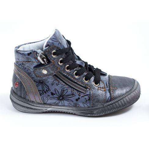0a874ec17a2 Chaussures fille hiver - GBB Bottines fille cuir gris foncé à fermeture  RACHIDA