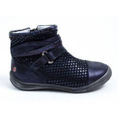 GBB Low boots fille cuir bleu marine ROCHELLE