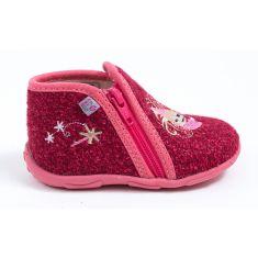 GBB Chaussons bébé fille rouge/rose à fermeture PILI