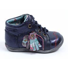 Catimini Boots bébé fille à lacets bleu marine RAINETTE
