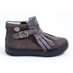 Catimini Boots cuir rose poudré à franges RUTABAGA