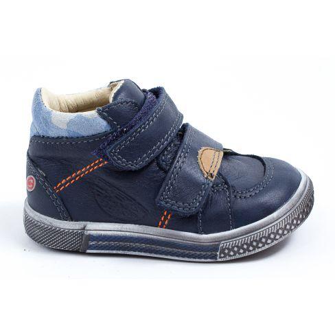Chaussures garçon hiver - GBB Baskets garçon montantes bleu à scratchs ROBERT