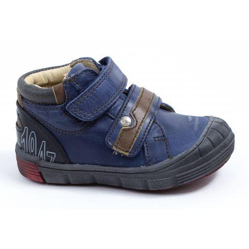 3f4f4adc7d894 Chaussures garçon hiver - GBB Baskets garçon montantes bleu à scratchs REMI