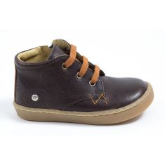 GBB Boots souples marron à lacets et fermeture pour garçon RICARDO