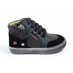 GBB Boots souples noires à lacets et fermeture pour garçon RICHY