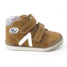 Babybotte Chaussures enfant garçon 1er pas B3 camel à fermeture velcro