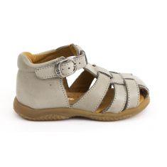 Sandales garçon Babybotte bébé 1er pas à boucle gris ciment TAGADA