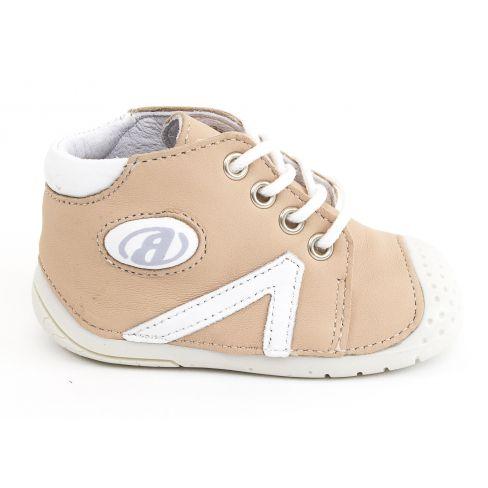Babybotte chaussures bébé debout fille B1 à lacets rose poudré