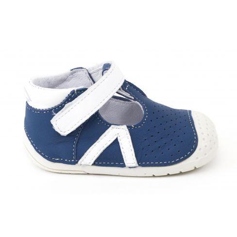 Babybotte Zao Baskets Bébé debout Garçon bleu marine