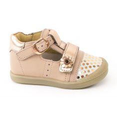 Babybotte Chaussures bébé fille ballerine à boucle rose poudré POPPY