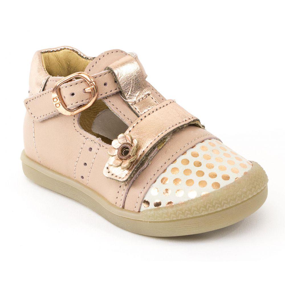 b03edbe436c58 Chaussures poudré rose Babybotte fille POPPY à bébé ballerine boucle  Bx6xqadwg