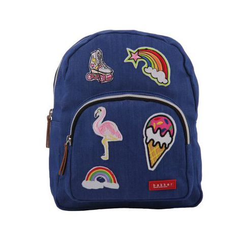 BACKPACK MINI jean & patches (medium blue)