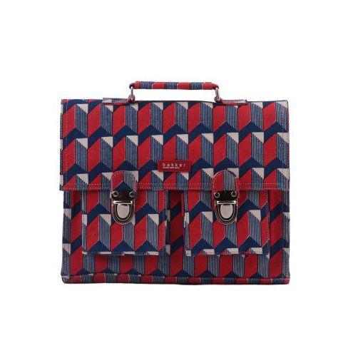 CARTABLE MINI BRETELLES canvas bakker (watanabe red)