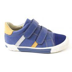 Baskets garçon NOEL - Chaussures enfant cuir bleu MINI RAPPY