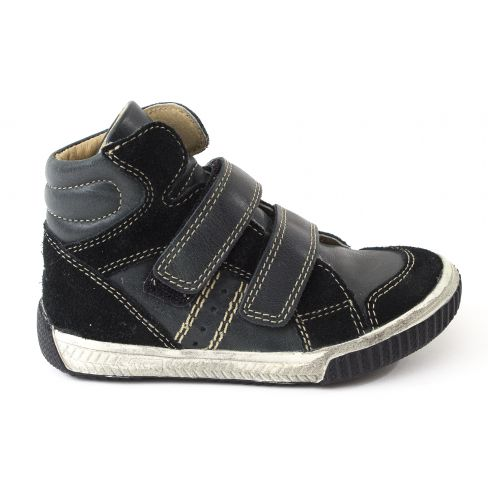 Baskets montantes ZEM velcro garçon NOEL - Chaussures enfant cuir noir fb407f274bc1