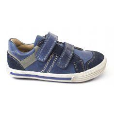 Baskets garçon NOEL - Chaussures enfant bleu ROBY