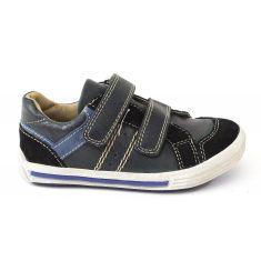 Baskets garçon NOEL - Chaussures enfant noir ROBY