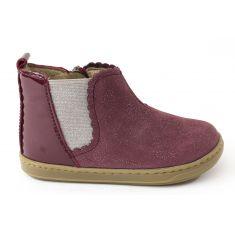 Shoo Pom Boots fille bordeaux à élastique BOUBA JODZIP